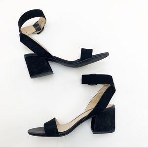 Franco Sarto black suede leather sandal sz 8.5M